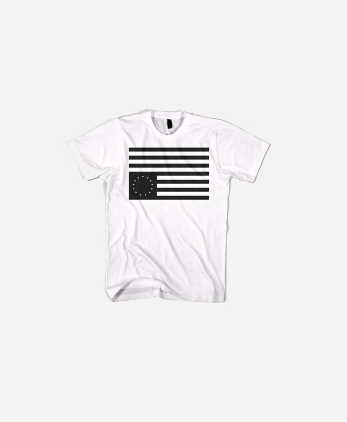 BLACKSCALE 블랙스케일_BLACKSCALE Rebel Flag T-Shirt White