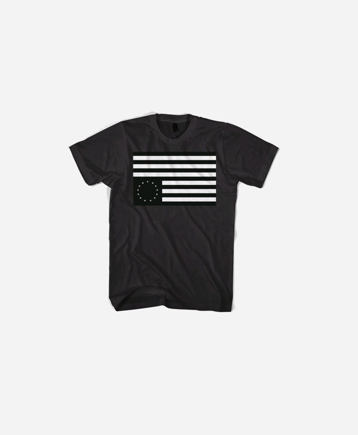 BLACKSCALE 블랙스케일_BLACKSCALE Rebel Flag T-Shirt Black/White