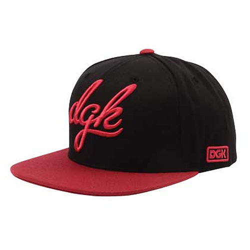 DGK디지케이_ Cursive Snapback - Black/Red