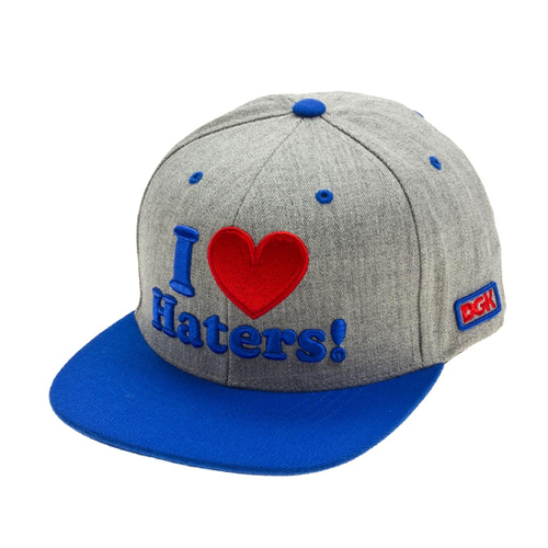 DGK디지케이_Haters Snapback - Ath Heather/Royal