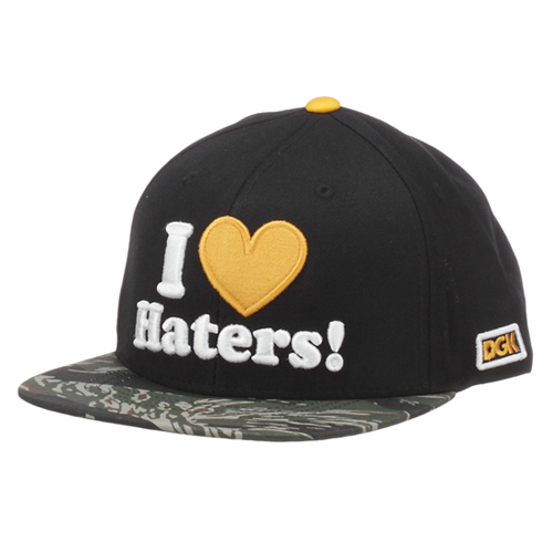 DGK디지케이_Haters Snapback Cap - Black/Tiger Camo