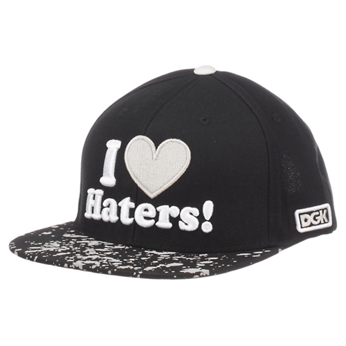 DGK디지케이_Haters Snapback Cap - Black/Bleach