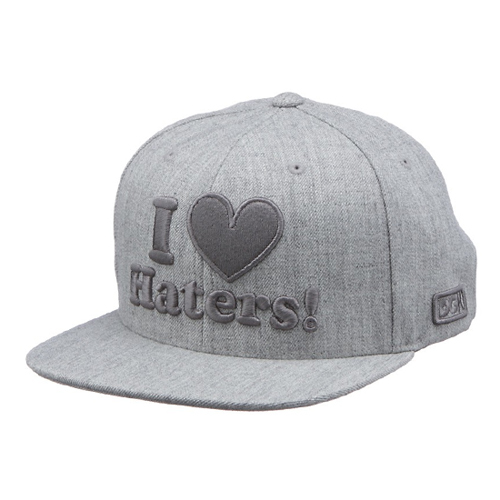 DGK디지케이_Haters Snapback Cap - Ath Heather