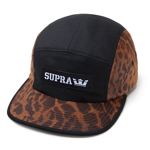 SUPRA수프라_Supra Mark 5 Panel Cap - Black/Cheetah
