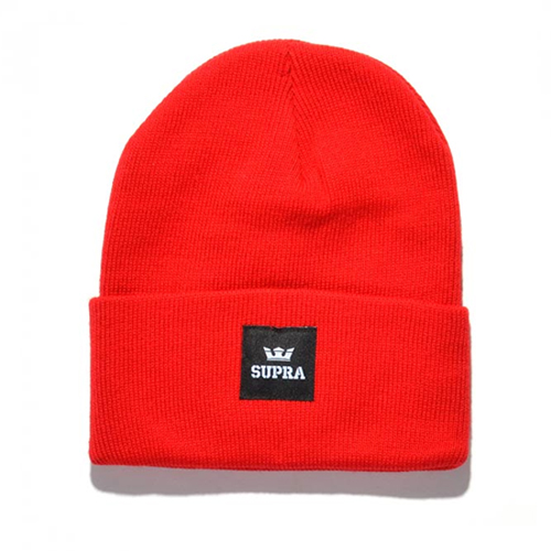SUPRA수프라_Watts Beanie - Red