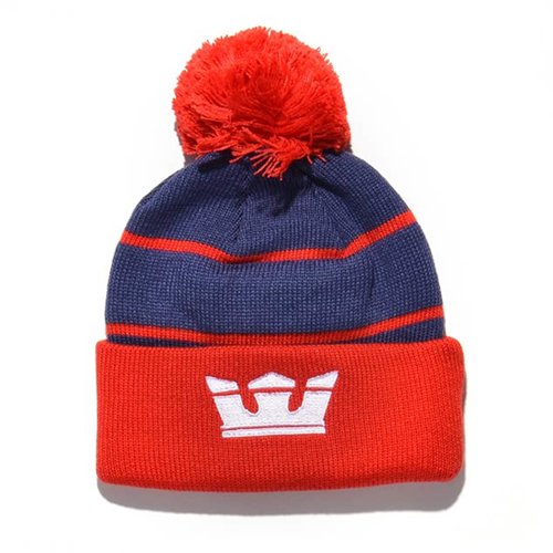 SUPRA수프라_Title Beanie - Navy/Red