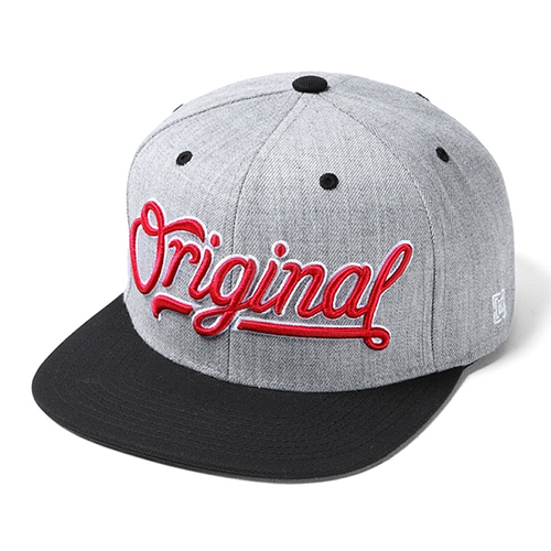 KR3W크루_Original 3 Snapback - Grey/Heather