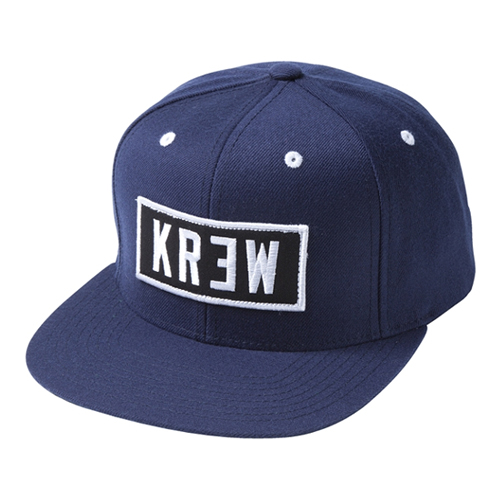 KR3W크루_Locker Patch Snapback - Navy
