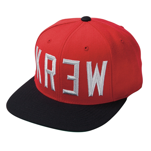 KR3W크루_ Hardtime Snapback - Red/Black
