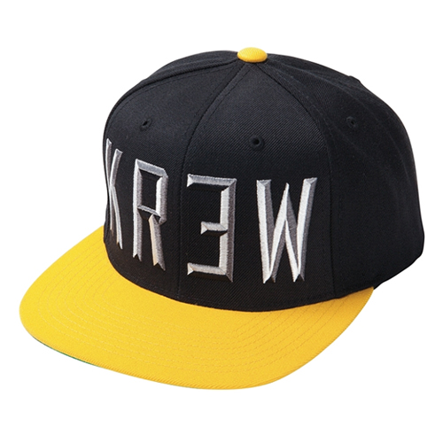 KR3W크루_Hardtime Snapback - Black/Yellow