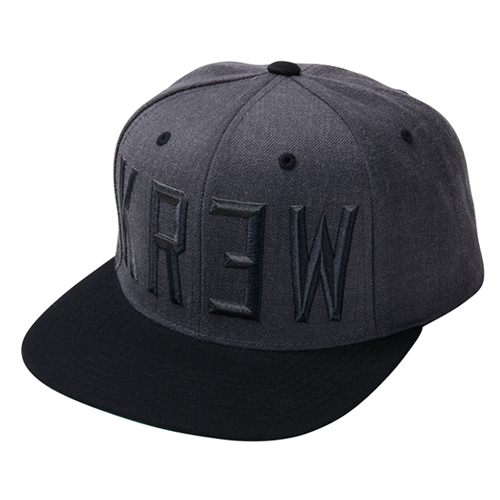 KR3W크루_ Hardtime Snapback - Charcoal Heather/Black
