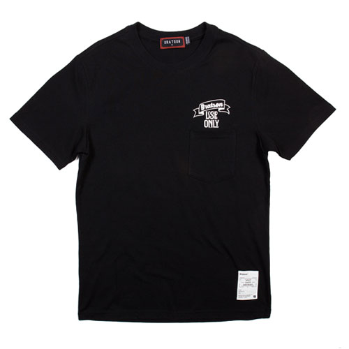 BRATSON브랫슨_USEONLY POCKET T-SHIRT(Black)