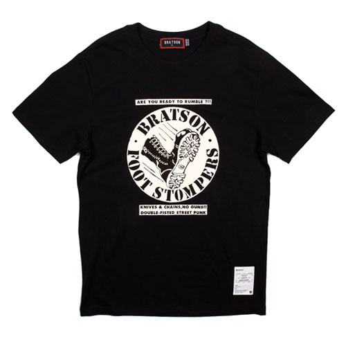 BRATSON브랫슨_STOMPERS T-SHIRT(Black)