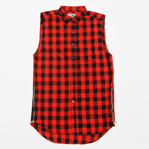 FNTY플라잉나인티_Zipper Buttondown Long Shirt