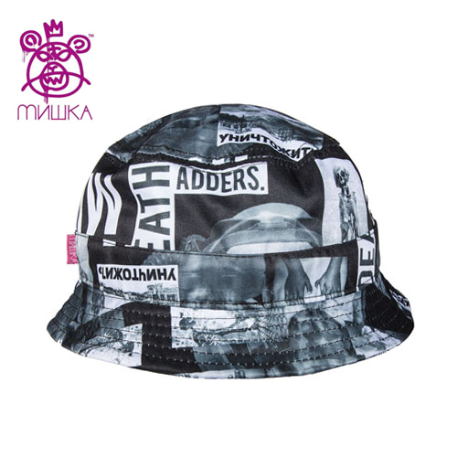 MISHKA미쉬카_Radioactive Block Bucket Hat(Black)
