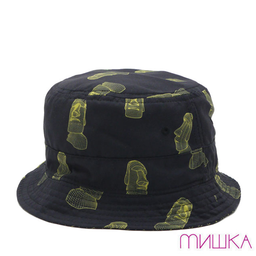 MISHKA미쉬카_Monolithic Reversible Bucket Hat(Black)
