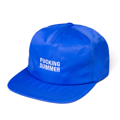 LEATA리타_Fucking summer zip back 5 panel cap(BLUE)스트랩백&스냅백