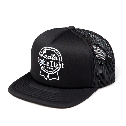 LEATA리타_[무료배송]Blue ribbon logo parody mesh cap(BLACK)매쉬캡