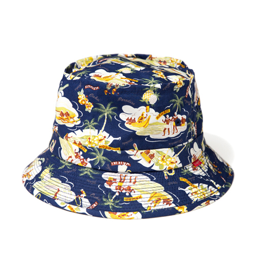 LEATA리타_[무료배송]Hawaiian 'Aloha story' bucket hat(NAVY)버킷햇