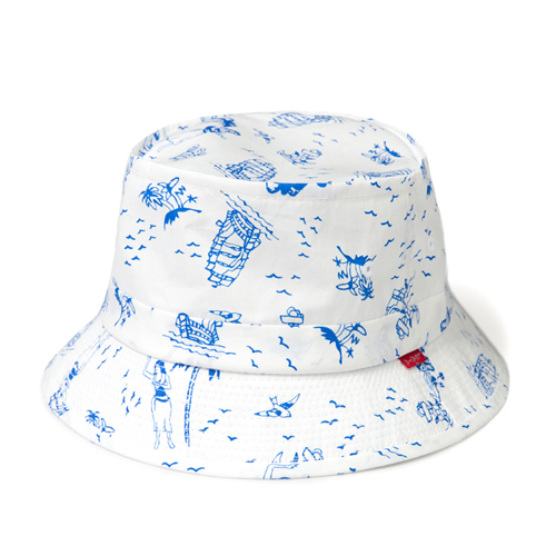 LEATA리타_[무료배송]Hawaiian 'Marine motive' bucket hat(WHITE)버킷햇