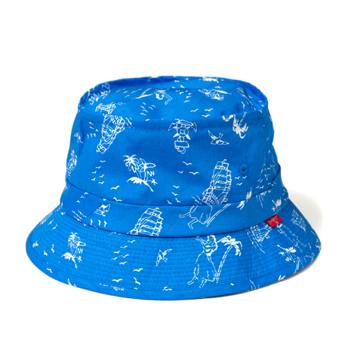 LEATA리타_[무료배송]Hawaiian 'Marine motive' bucket hat(BLUE)버킷햇