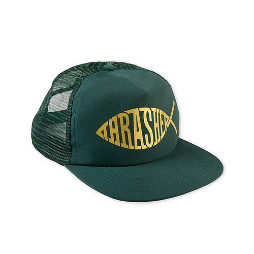 THRASHER트래셔_THRASHER FISH MESH SNAPBACK (GREEN)