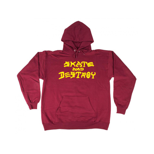 THRASHER트래셔_SKATE AND DESTROY HOOD (MAROON)