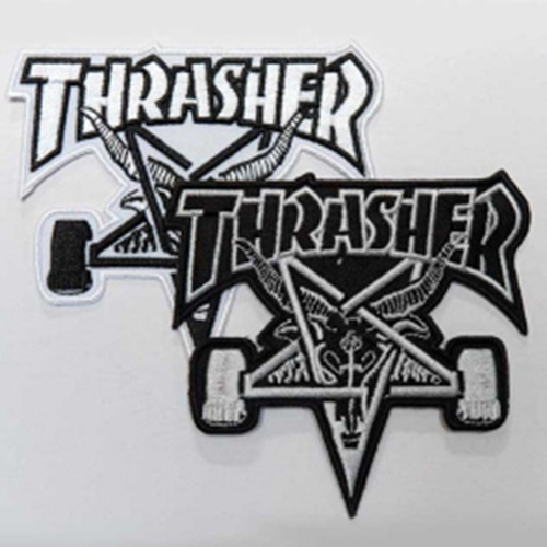 THRASHER트래셔_SKATE GOAT PATCH (BLACK / WHITE)