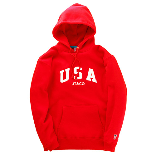 JT&CO제이티앤코_USA PULLOVER HOODY (RED)