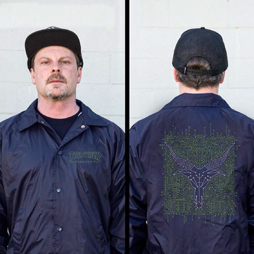 THRASHER트래셔_CIRCUIT GOAT COACH JACKET (NAVY)