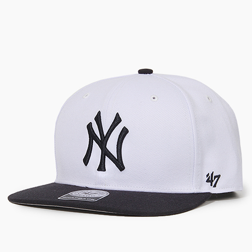 47 BRAND포티세븐_Sure Shot Snapback Yankees(White/Black)