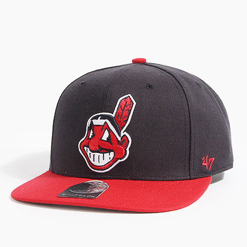 47 BRAND포티세븐_Sure Shot Snapback Indians(Navy/Red)