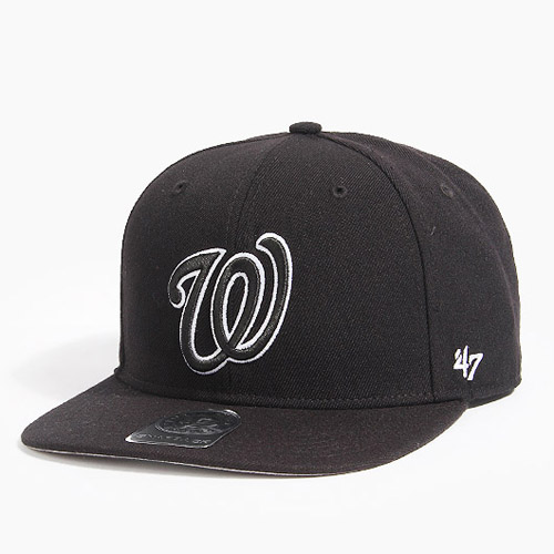 47 BRAND포티세븐_Sure Shot Snapback Washington(Black)