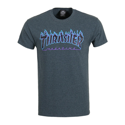 THRASHER트래셔_FLAME LOGO (DARK HEATHER)