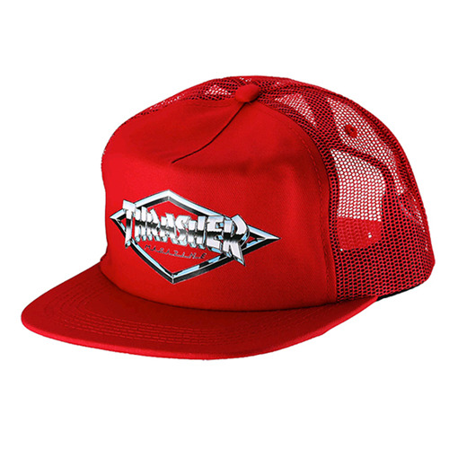 THRASHER트래셔_DIAMOND EMBLEM TRUCKER HAT (RED)