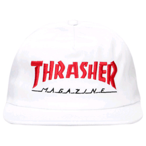 THRASHER트래셔_MAGAZINE LOGO TWO-TONE HAT (WHITE/RED)