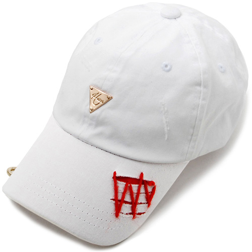 HATER헤이터_Woolen X Metal Destroyed Cap White
