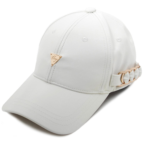 HATER헤이터_HATER Side Metal Hoop Cap White