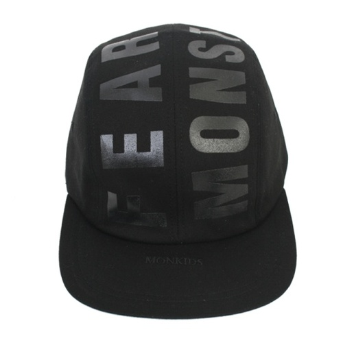 MONKIDS몬키즈_4panel_string_cap_black