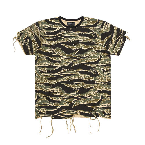 BLACK SCALE블랙스케일_DESTROYED T-SHIRT TIGER CAMO