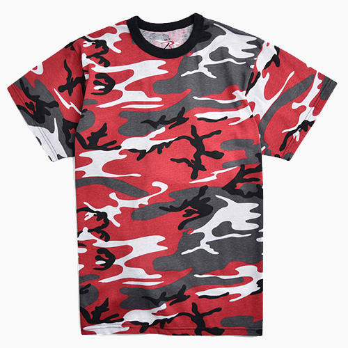 ROTHCO로스코_Short Sleeve T Red Camo