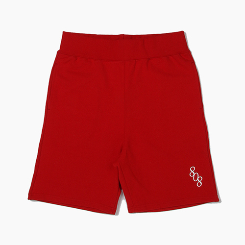 808팔공팔_808 Sweat Short Red
