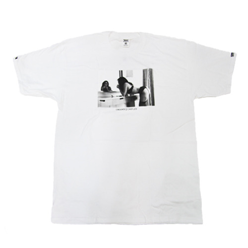 CROOKS & CASTLES Men's Knit Crew T-Shirt - Come Get It white