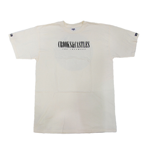 CROOKS & CASTLES Men's Knit Crew T-Shirt - Paraiso (CREME)