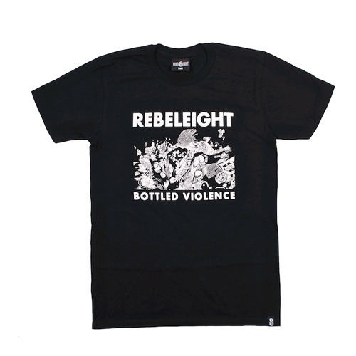 REBEL8레벨에잇__BOTTLED VIOLENCE SOFT TEE BLACK