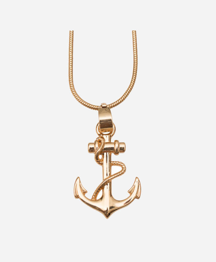 REASON리즌_Anchor Pendeant w Chain Gold 18K
