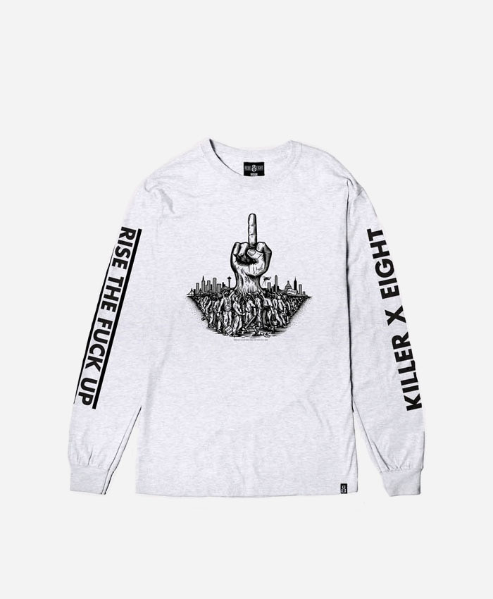 REBEL8레벨에잇_REBEL8 X KILLER MIKE Risen Long sleeve Tee