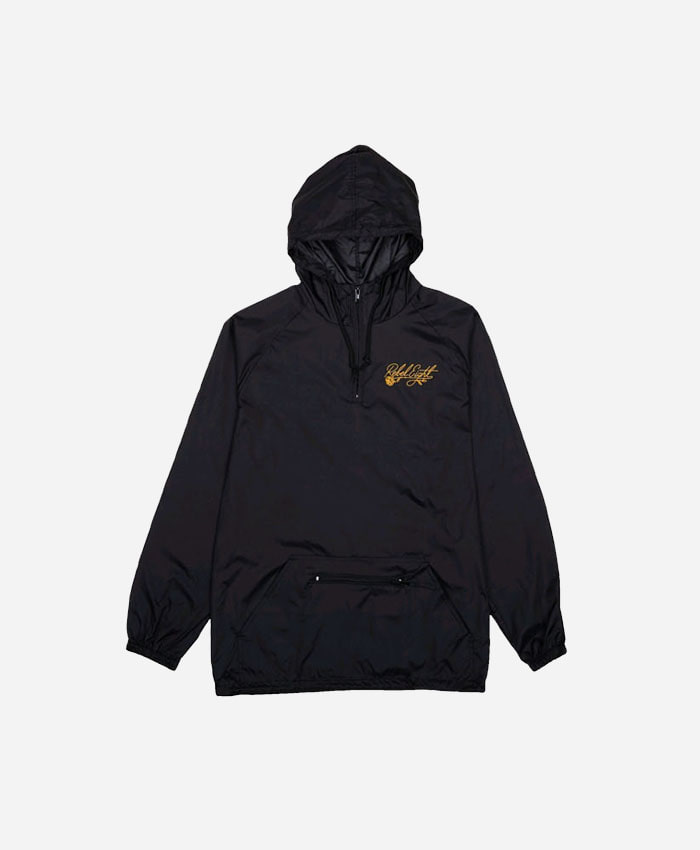 REBEL8레벨에잇_FLORET EMBROIDERED ANORAK JACKEY BLACK