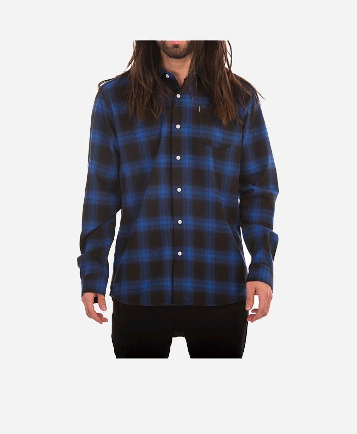 CROOKS & CASTLES크룩스앤캐슬_L/S Flannel Shirt - Cobalt Multi