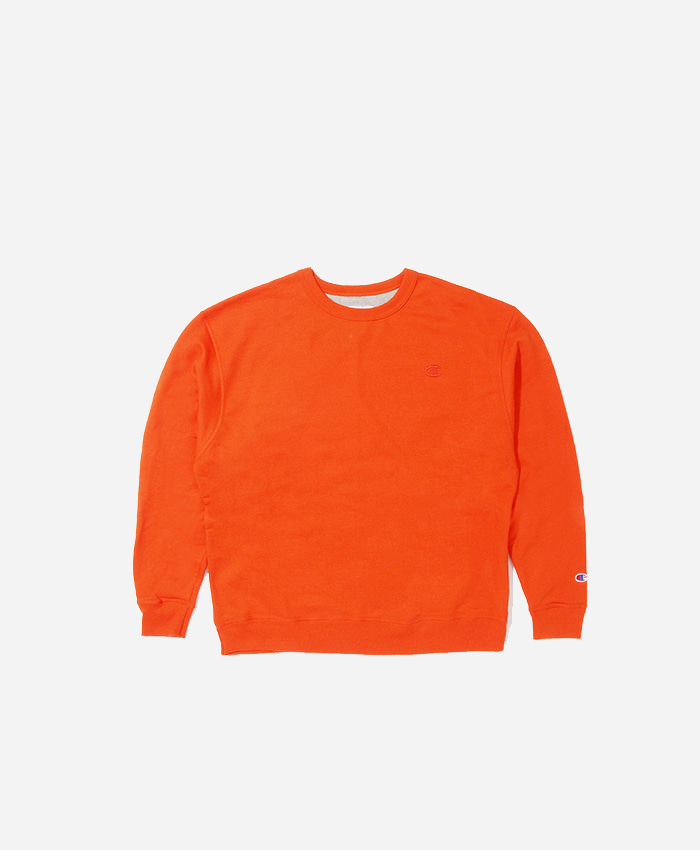 Champion챔피언_Powerblend Fleece Crew Orange
